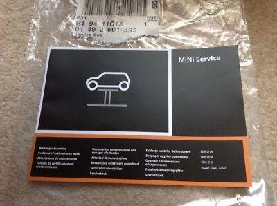 BMW MINI SERVICE BOOK NEW MULTI LANGUAGE NOT DUPLICATE ALL MODELS