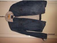 Fleecy Blue Denim Jacket