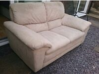 REDUCED! DFS Cream Suede Sofa set immculate condition