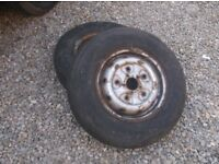 ford transit mk5 wheels & tyres x 2