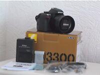 Nikon D3300 plus AF-S 35mm 1.8G Prime Lens - £295.00