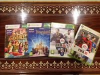 X box 360 and Kinect games