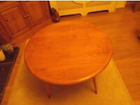 Ercol Light Wood Round Coffee Table