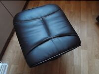 faux leather foot stool