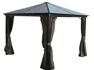 Gazebo Casa 10x10 en Alum.  Avec Toit en Polycarbonate 7mm / 10x10 Alu. Hard Top Gazebo Casa With 7mm Polycarbonate Roof