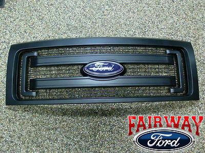 2009 thru 2014 F-150 OEM Genuine Ford Parts Black XL Model Grille w/Emblem
