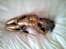 Bronzed figurine