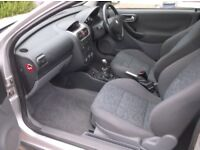 Vauxhall Corsa 1.4 16v sri hatch,x reg,silver,low mileage 104k,s/h to 72k,mot hist,mot dec,rax oct,