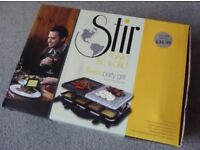 Swiss Party Grill Stone Raclette Brand New