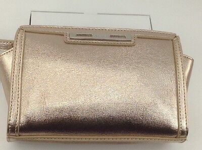 Women's Nine West Shiny CHAMPAGNE Color Clutch Purse - $40 M