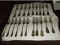 VINTAGE DINNER FORKS COLLECTION X 20