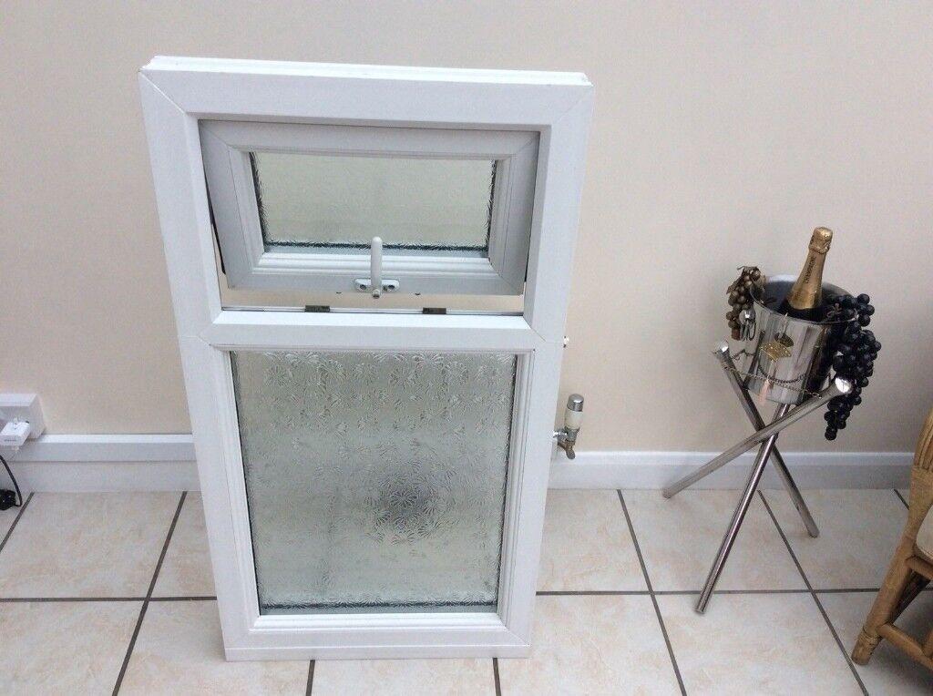 UPVC DOUBLE GLAZED BATHROOM WINDOW TOP OPENING OBSCURE ...