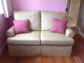 Three piece suite with ottoman foot stool