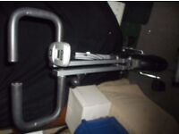 V fit exercise bike with arm strengthening feature with instuctions leaflet