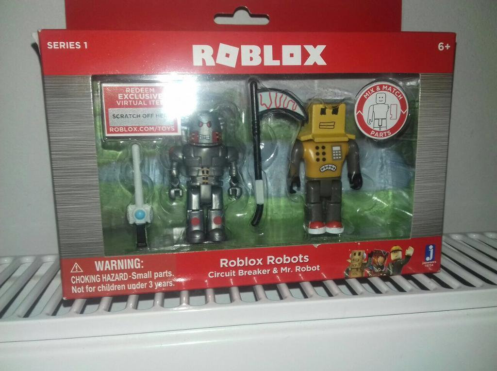 roblox twin pack figures circuit breaker and mr robot in poole