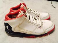 Jordan Flight Origin White Black Red Basketball Shoes Size 8.5 UK