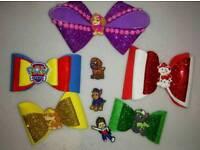 Handmade bow hair clips and headbands