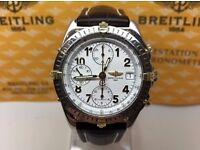GENTS BREITLING CHRONOMAT B13050.1 18K & STEEL AUTOMATIC WATCH 39.5 MM