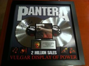 Autographed-Double-Platinum-Plaque-of-Panteras-Vulgar-Display-of-Power