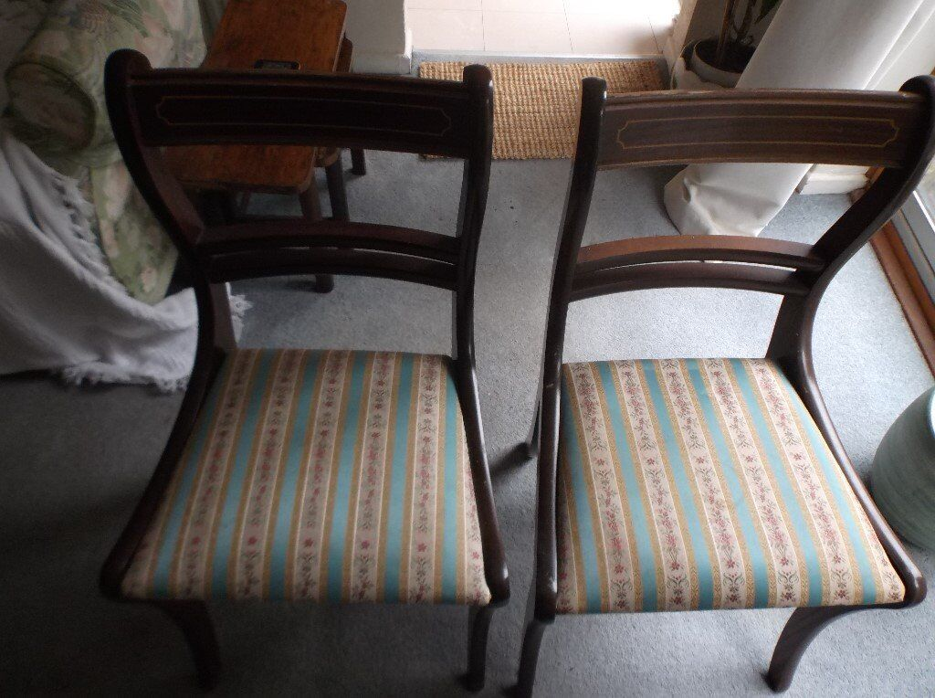 Dark wooden dining table and 2 Chairs for sale