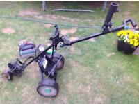Hill Billy Electric Golf Trolley, narrow wheeled version