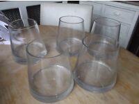 5 Glass Vases