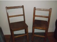 Solid elm antique infant chairs in excellent condition.