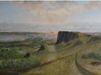 'Belfast sunrise from Cavehill' - Original oil painting.