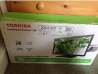 Brand new TV/DVD combo still unopened in box. Unwanted prize. Toshiba 22D1333