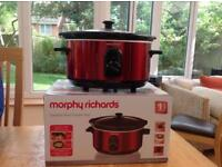Ceramic Slow Cooker Morphy Richards 3.5 litre, Red