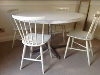 Circular Dining Table and 6 matching chairs