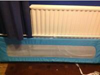 Safetots extra wide bed guard in blue. NEW