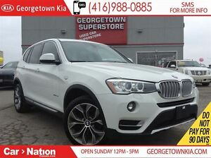 2016 BMW X3 xDrive28i NAVI| BACK UP CAM| PANO ROOF| PREMIUM ED