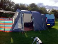 Campa XL drive away awning in grey