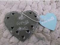 18 x new tin hearts