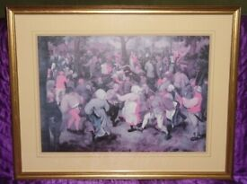 'Wedding Dance' Print In 71x54cm Wood & Glass Frame (unboxed)