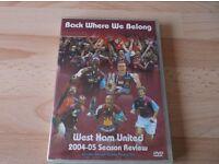Miscs West Ham United Dvds.