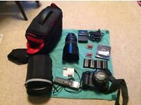 Canon 5d ii with 24-70mm lens, 50mm lens and extras