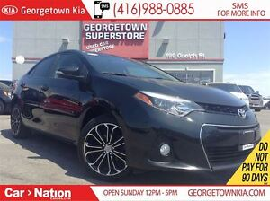2015 Toyota Corolla S | 6 SPEED | SUNROOF | LEATHER TRIM | BACK