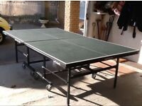 Full size butterfly match rollaway table tennis table
