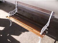 Refurbished cast iron garden bench ***Can Deliver***