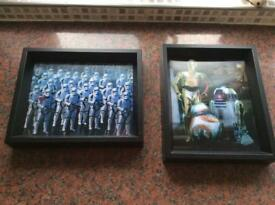 STAR WARS 3D PICTURES X 2