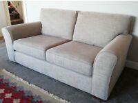 Next Michigan 3 Seater Sofa in Belgian Soft Twill Dark Natural (Beige)