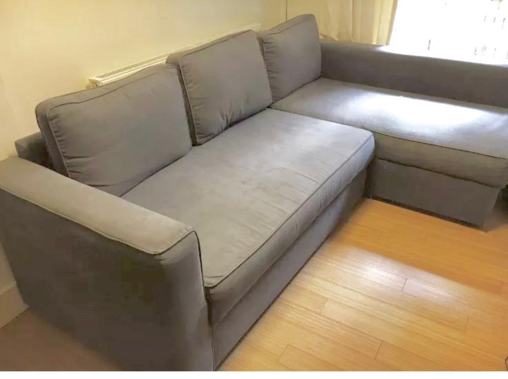 Corner Sofa Bed Grey Colour With Storage Ikea Good Condition Smoke And Pet