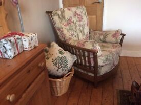 Ercol Renaissance PAIR of High Back Armchairs in SUPER condition