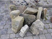 Sandstone Rockery Stones - Mixed Sizes (1)