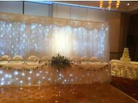 TWINKLE PACKAGE-Top TABLE,CAKE table & BACKDROP £145
