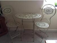 Cast iron garden furniture BN