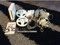 Wii console and 6 games