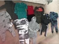 Bundle of infant boys designer clothes and shoes.